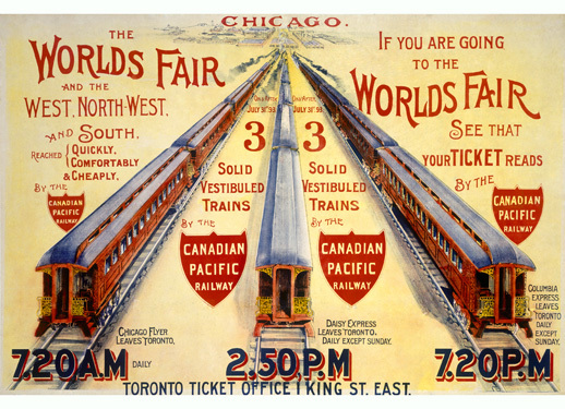 World's Fair Train Ad