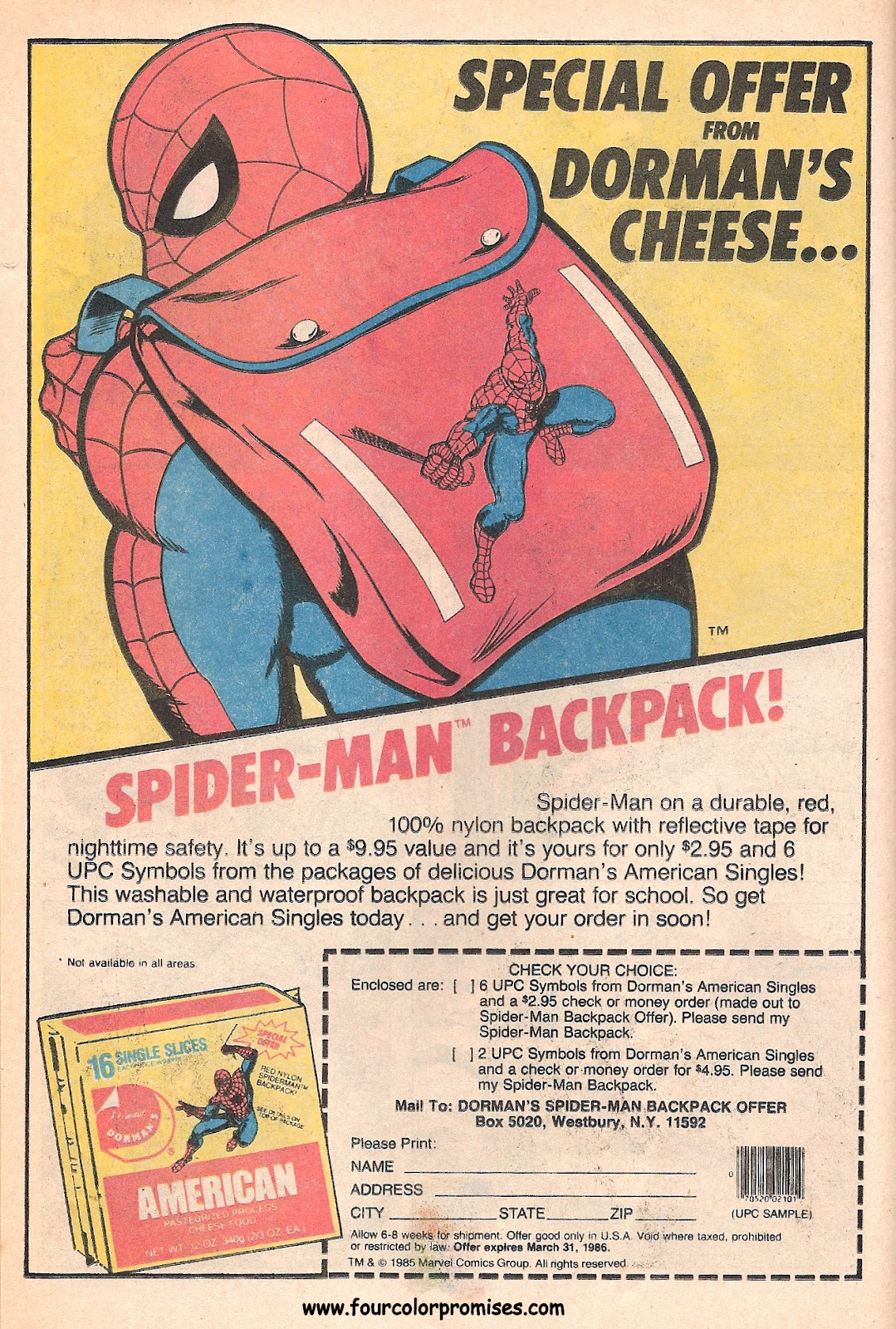 spider man backpack