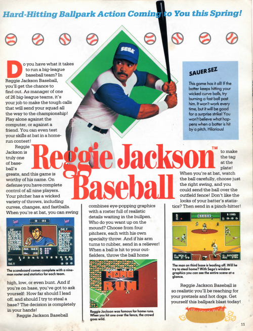 Reggie Jackson Baseball feature