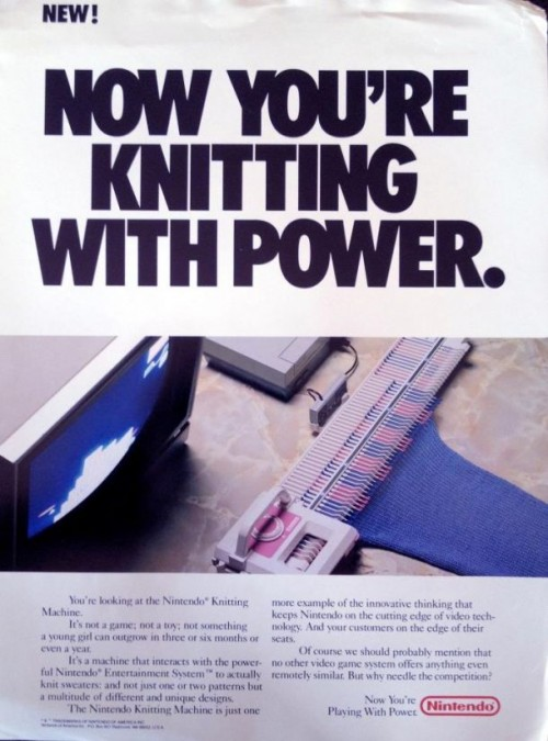 Nintendo Knitting Machine