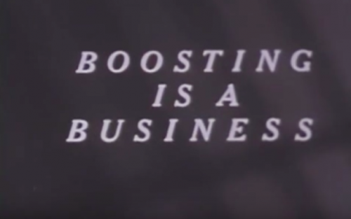 Boosting Is A Business