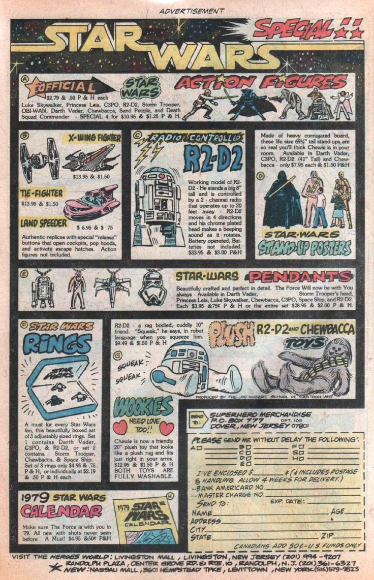 Star Wars Comic Ad